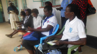 Community Health workers assist in regestering ckients at Ahero Medical Centre